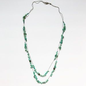 Vintage turquoise bead layered strand necklace